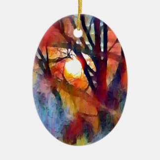 Ostara Moonrise Ceramic Ornament