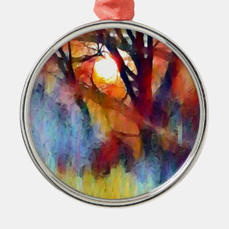 Ostara Moonrise Metal Ornament