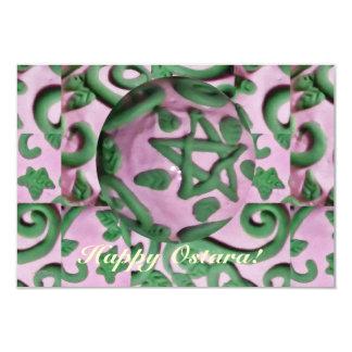 Ostara Spring Equinox Single Page Greeting Card