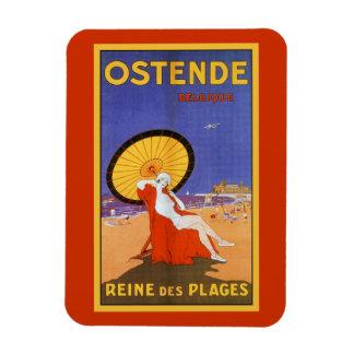 Ostend Queen of beaches 1920s beauty summer travel Magnet