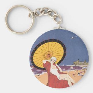 Ostende - Belgique Basic Round Button Keychain