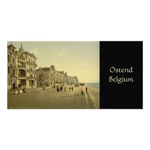 Ostende - el terraplén tarjeta fotografica personalizada