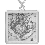 Ostende, from 'Commentaries Square Pendant Necklace