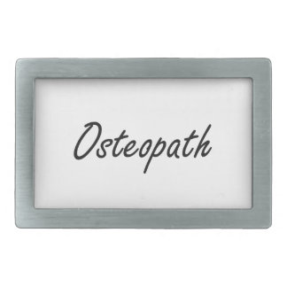 Osteopath Artistic Job Design Belt Buckles