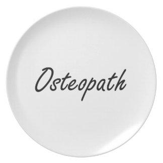 Osteopath Artistic Job Design Dinner Plates