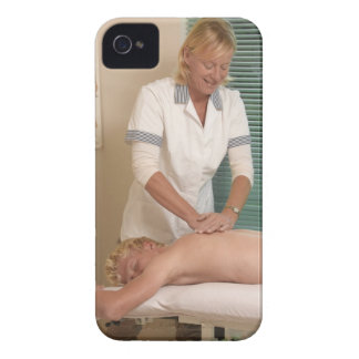 Osteopath/chiropractor manipulating back iPhone 4 case