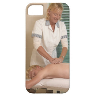 Osteopath/chiropractor manipulating back iPhone SE/5/5s case