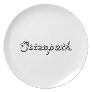 Osteopath Classic Job Design Dinner Plates