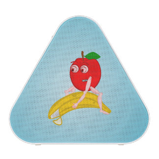 Osteopath Fruit Funny Apple Straightening a Banana Bluetooth Speaker
