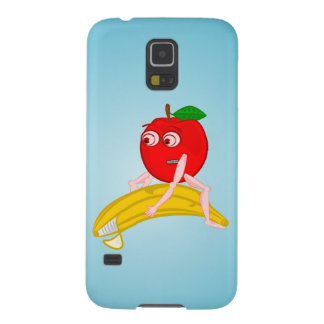 Osteopath Fruit Funny Apple Straightening a Banana Case For Galaxy S5