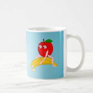 Osteopath Fruit Funny Apple Straightening a Banana Coffee Mug