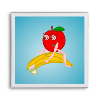 Osteopath Fruit Funny Apple Straightening a Banana Envelope