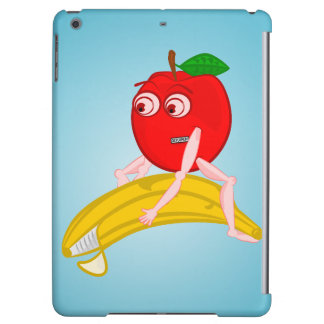 Osteopath Fruit Funny Apple Straightening a Banana iPad Air Cover