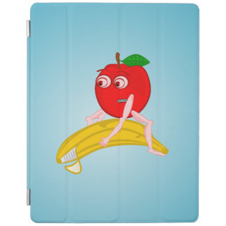 Osteopath Fruit Funny Apple Straightening a Banana iPad Smart Cover