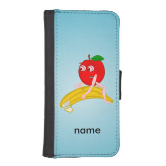 Osteopath Fruit Funny Apple Straightening a Banana iPhone SE/5/5s Wallet Case