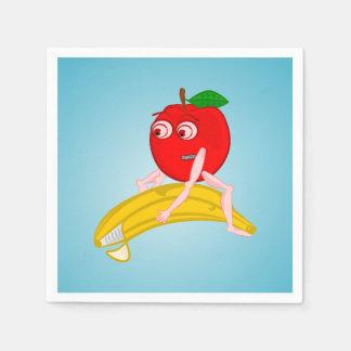 Osteopath Fruit Funny Apple Straightening a Banana Napkin