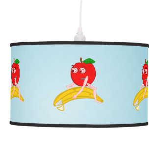 Osteopath Fruit Funny Apple Straightening a Banana Pendant Lamp