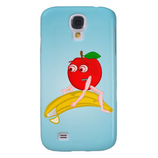Osteopath Fruit Funny Apple Straightening a Banana Samsung S4 Case