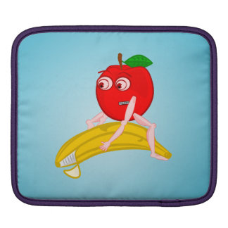 Osteopath Fruit Funny Apple Straightening a Banana Sleeve For iPads