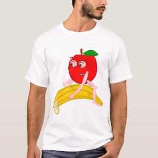 Osteopath Fruit Funny Apple Straightening a Banana T-Shirt