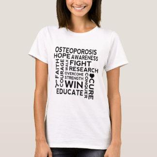 Osteoporosis Awareness Slogan Ladies T-shirt