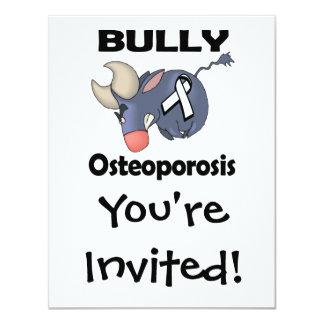 Osteoporosis del matón invitación 10,8 x 13,9 cm