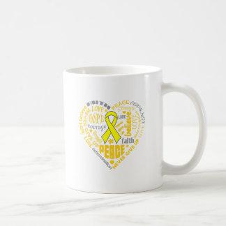 Osteosarcoma Awareness Heart Words Classic White Coffee Mug
