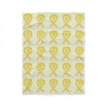 Osteosarcoma Awareness Ribbon Fleece Blankets