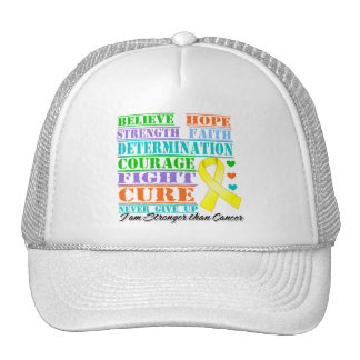 Osteosarcoma Cancer Believe Strength Determination Mesh Hats