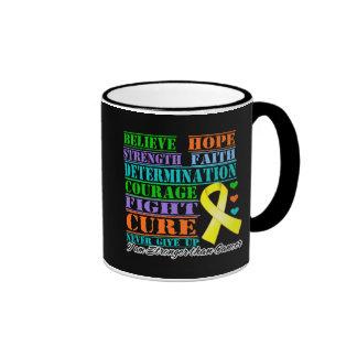 Osteosarcoma Cancer Believe Strength Determination Ringer Coffee Mug