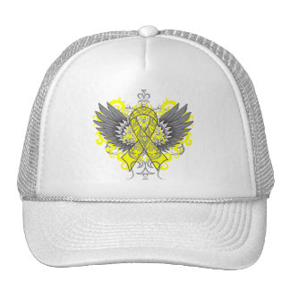 Osteosarcoma Cancer Cool Wings Hat