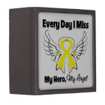 Osteosarcoma Cancer Every Day I Miss My Hero Premium Jewelry Boxes