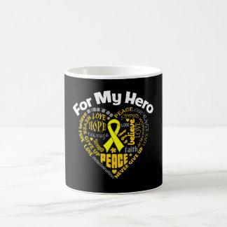 Osteosarcoma Cancer For My Hero Classic White Coffee Mug