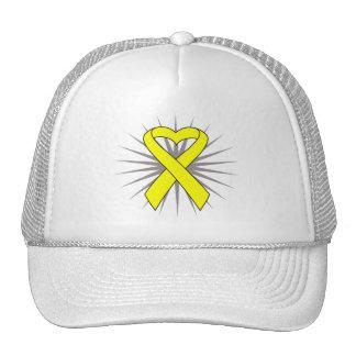 Osteosarcoma Cancer Heart Ribbon Mesh Hat
