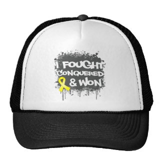 Osteosarcoma Cancer I Fought Conquered Won Trucker Hat