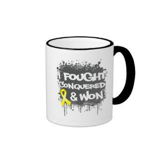 Osteosarcoma Cancer I Fought Conquered Won Ringer Coffee Mug