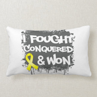 Osteosarcoma Cancer I Fought Conquered Won Pillow