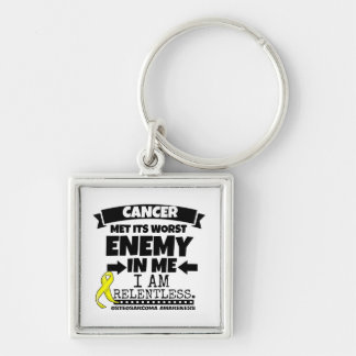 Osteosarcoma Cancer Met Its Worst Enemy in Me Keychain