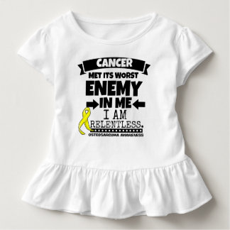 Osteosarcoma Cancer Met Its Worst Enemy in Me Toddler T-shirt