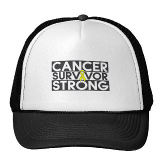 Osteosarcoma Cancer Survivor Strong Trucker Hats