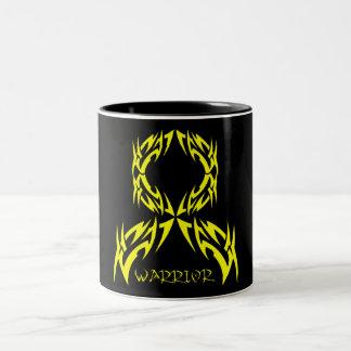Osteosarcoma Cancer Warrior Tribal Ribbon Two-Tone Coffee Mug