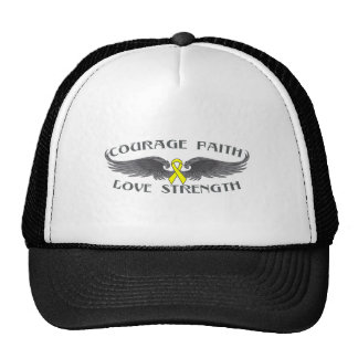 Osteosarcoma Courage Faith Wings Mesh Hat