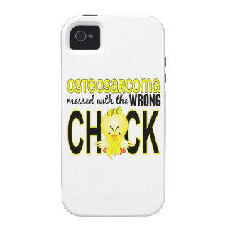 Osteosarcoma ensuciado con el polluelo incorrecto iPhone 4 fundas