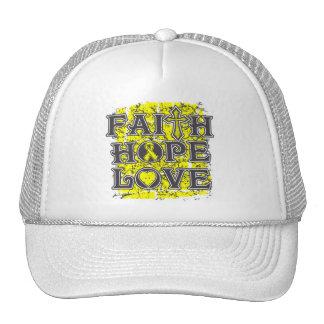 Osteosarcoma Faith Hope Love Trucker Hats