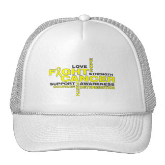 Osteosarcoma Fight Cancer Collage Mesh Hats