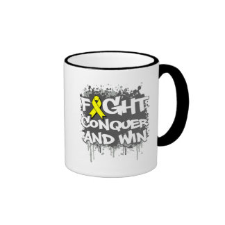 Osteosarcoma Fight Conquer and Win Ringer Coffee Mug