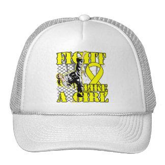 Osteosarcoma Fight Like A Girl Kick Trucker Hat