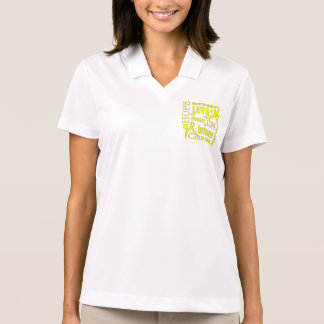 Osteosarcoma Hope Words Collage Polo Shirt