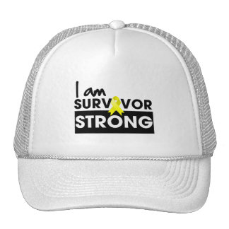 Osteosarcoma I am Survivor Strong Mesh Hats