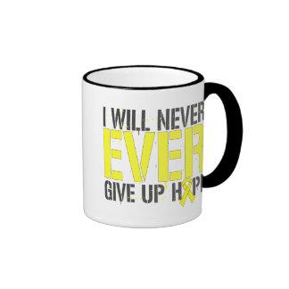 Osteosarcoma I Will Never Ever Give Up Hope Ringer Coffee Mug